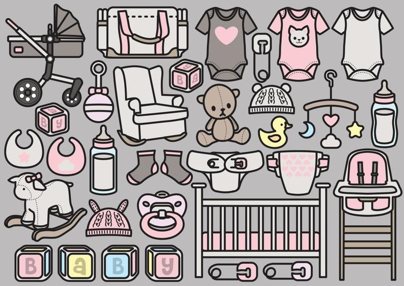 Premium Vector Clipart - Kawaii Baby Girl Clipart - Pretty ...