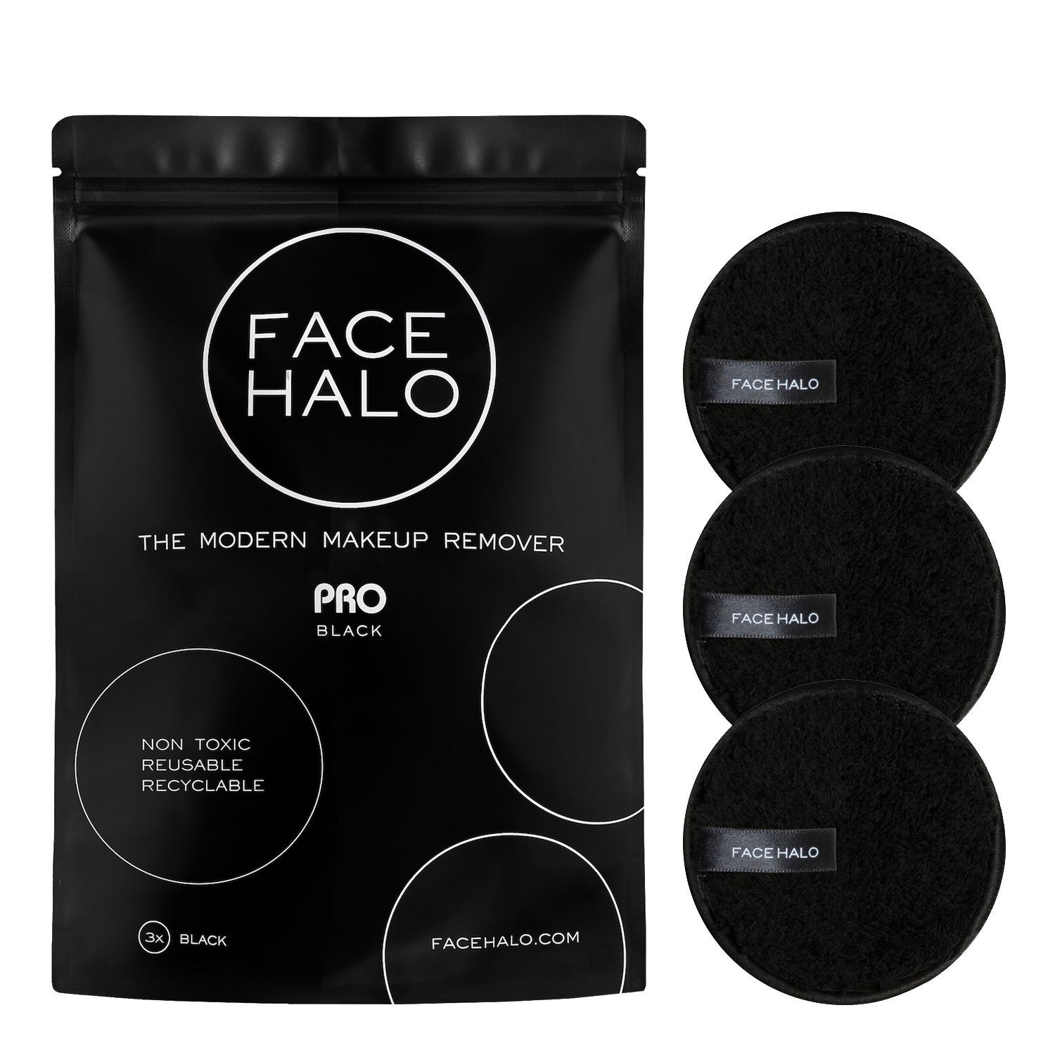 PRO Pack of 3 Makeup remover, Makeup remover pads