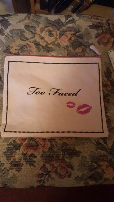 Other side of too faced makeup bag