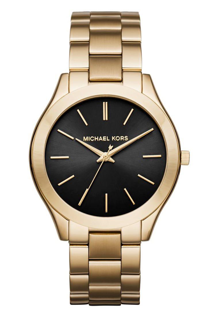 De Oro Rosa Y Esfera Negra Este Reloj De Michael Kors Es Uno De Los Más Vendidos Estas Brazalete De Acero Inoxidable Reloj Pulsera Joyería De Acero Inoxidable