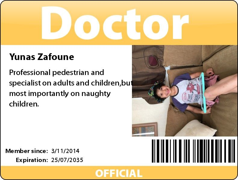 Make Your Own Id Card Press Pass Name Tag Or Any Other Kind Of Identification Doctor Names Badge Maker Cards