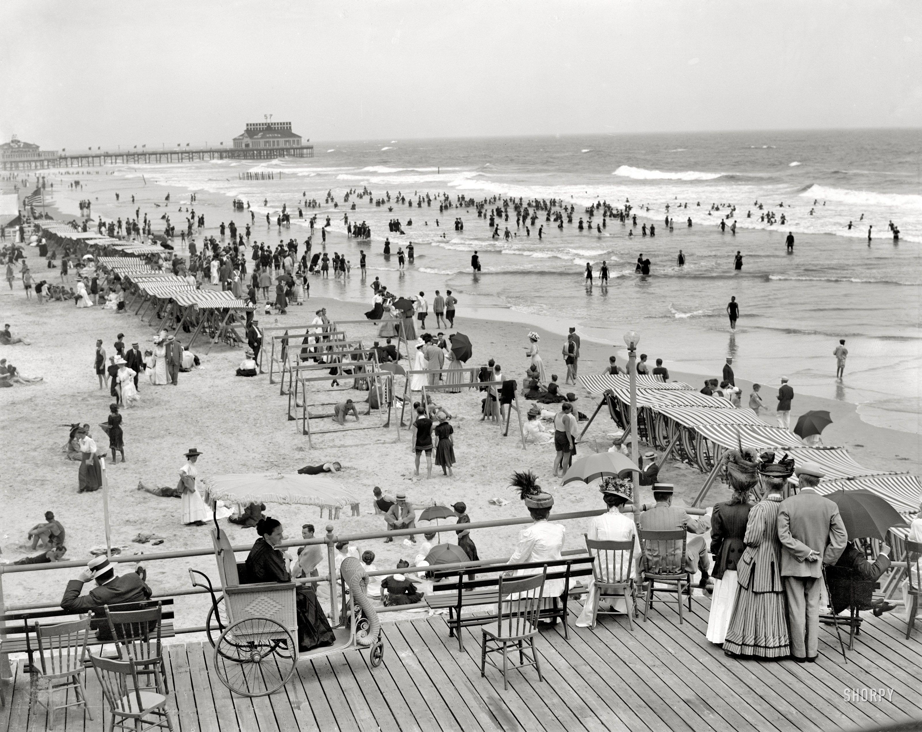 The Jersey Shore Circa 1908 Atlantic City Boardwalk And Bathing Beach Atlantic City Boardwalk Atlantic City Jersey Shore