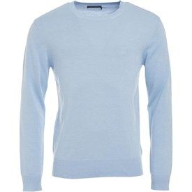 New Products French Connection 12G Crew Neck Jumper Mens Light Pink Melange Online Shopping