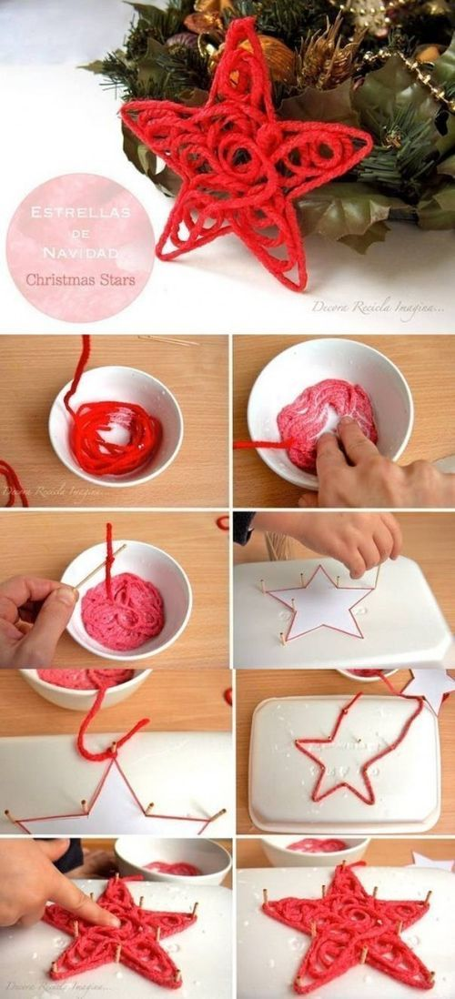 How to make Christmas Star step by step DIY tutorial instructions / How To Instructions