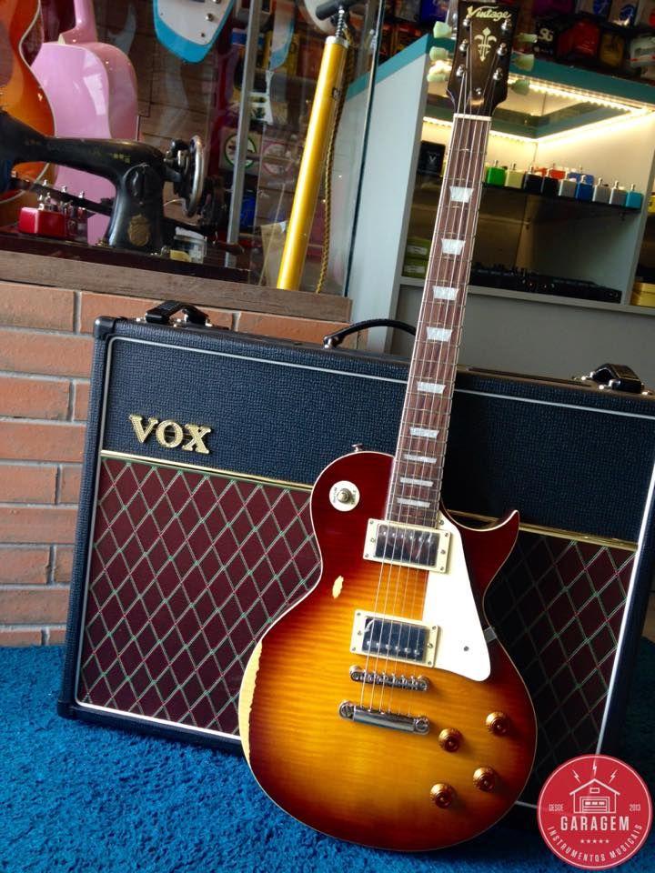 Les Paul Vintage V100 Mr Gibson Electric Guitar Vintage V100 Guitar Rig