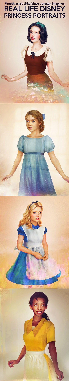 Real life Disney princesses portraits…  공주, 디즈니 및 일러스트레이션 ...