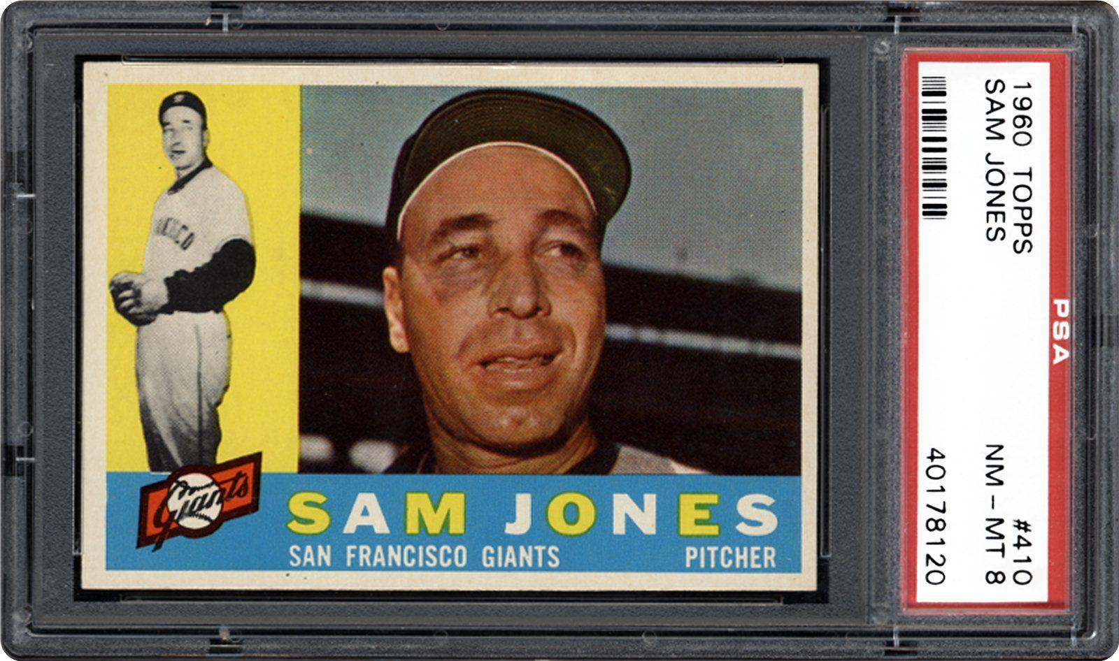1960 Topps Sam Jones PSA CardFacts™ Baseball cards