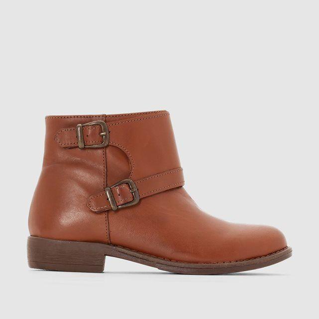326d08d929a Botines de piel vuelta con flecos La Redoute Collections - Zapatos ...