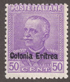 Eritrea 1928 29 50c Bright Violet Overprint Type A On Italian Stamp King Victor Emmanuel III