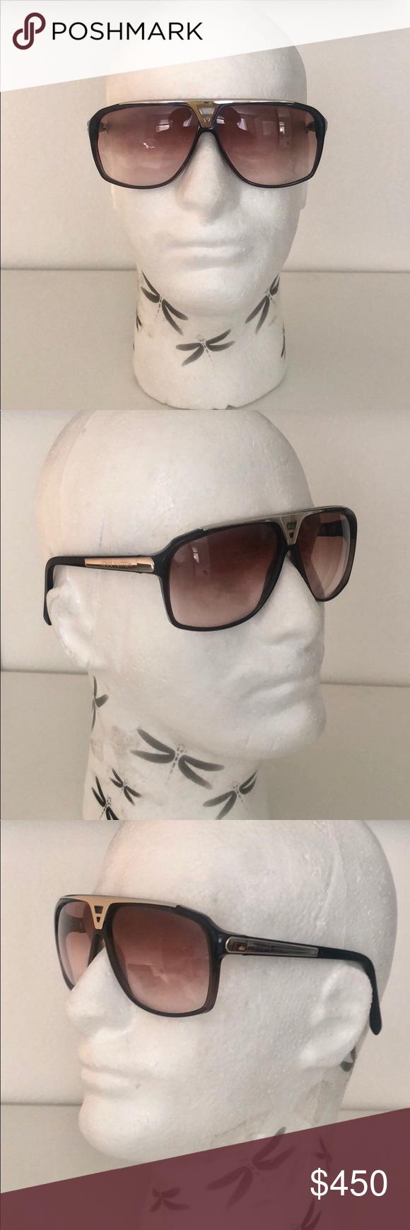 939864a46d57 Louis Vuitton Evidence Mens Sunglasses Authentic Louis Vuitton Evidence Mens  Sunglasses