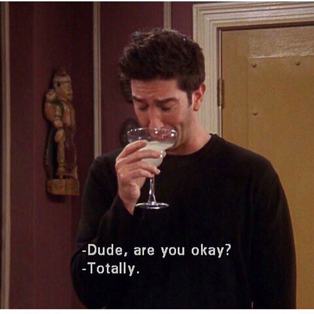 Drinking His Troubles Away Ross Friends Movie Quotes
