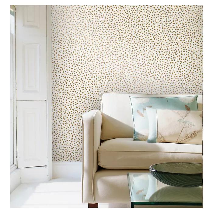 Speckled Dot Peel & Stick Wallpaper Metallic Gold
