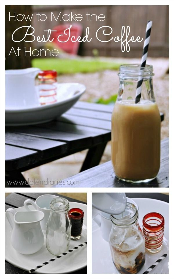 Do you love iced coffee!?! Then you HAVE to try this Iced Coffee! It's seriously THE BEST ICED COFFEE! SO easy to make and will save you money!! With this recipe you can make iced coffee with cream, iced vanilla lattes or mocha's...the possibilities are endless!