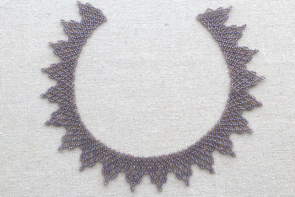 African net bead lace necklace