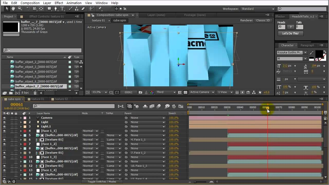 Cube Spin Tutorial by Tuts+ | Video Creation | Adobe after