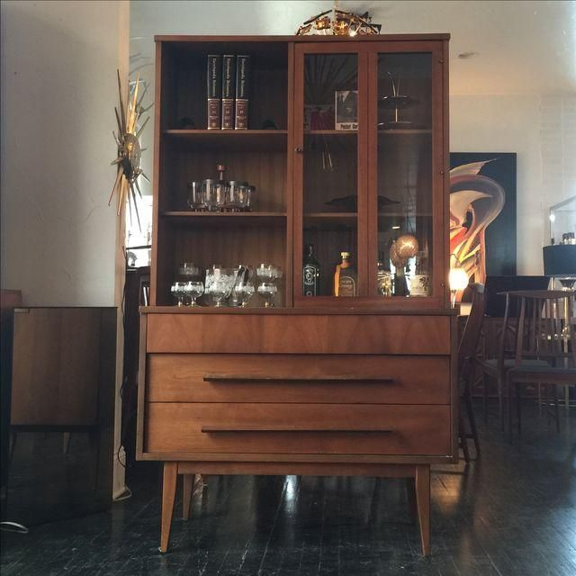 Image Of Mid Century Modern Dixie China Hutch