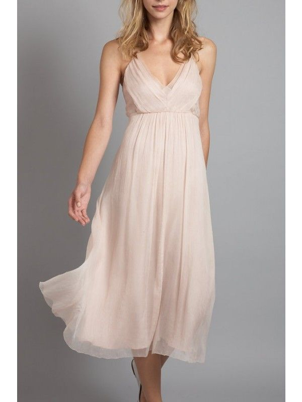 Light Pink Tea Length Dresses
