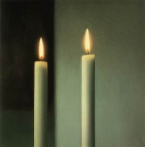§§§ : Two Candles : Gerhard Richter : 1982