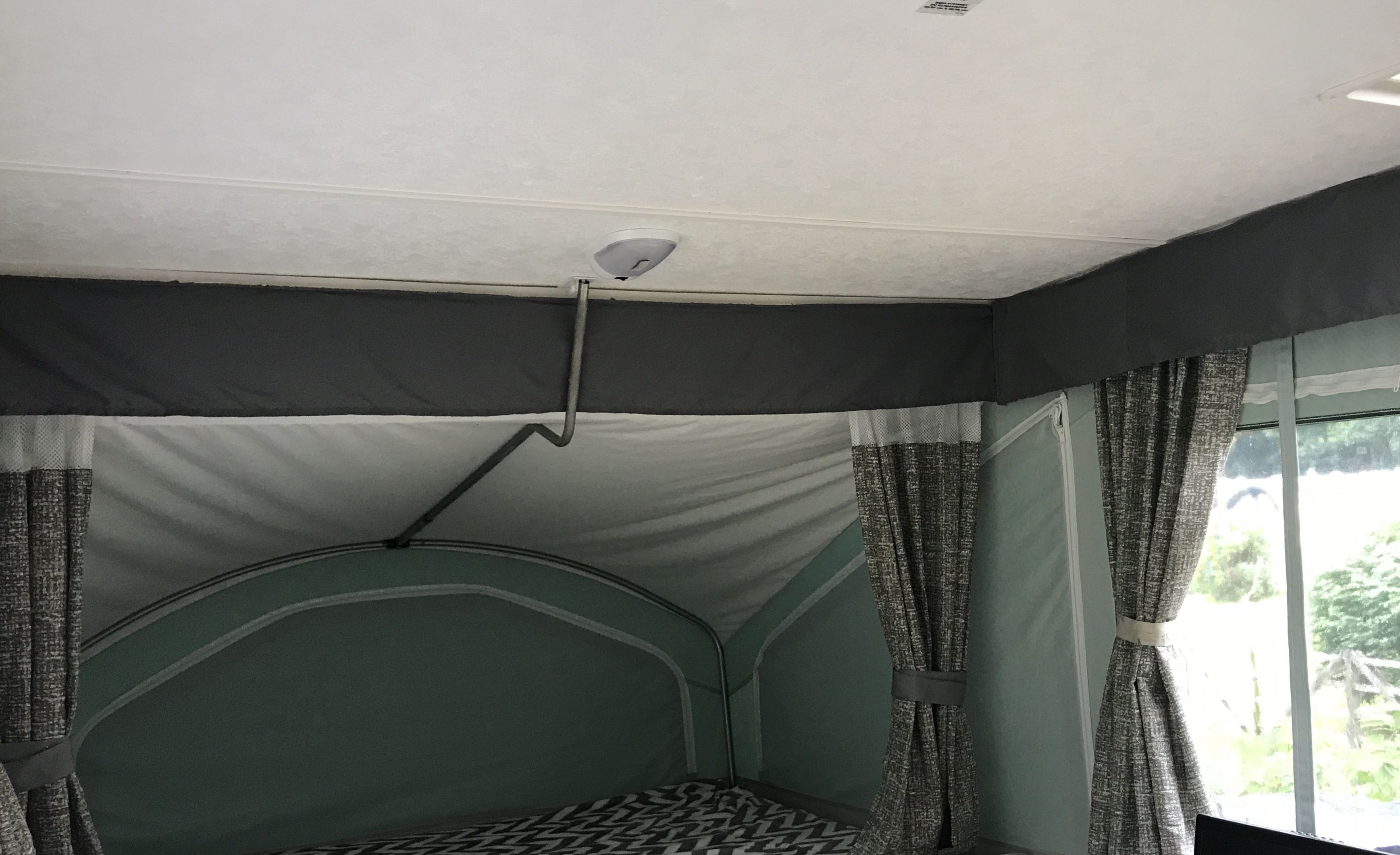 Popup Camper Valance Curtain Using Microfiber Flat Sheets From