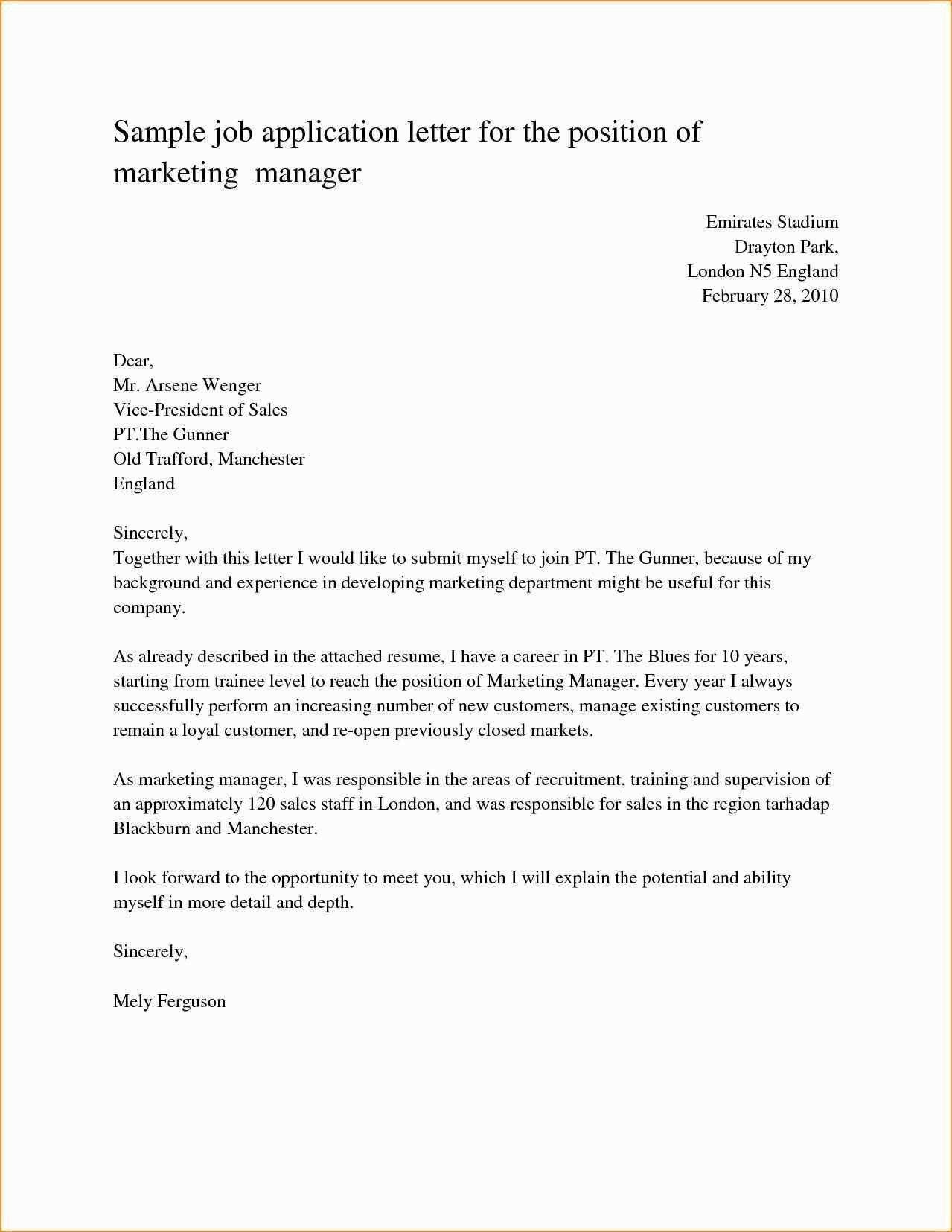 23 Cover Letter Sample For Job Job Application Letter Sample
