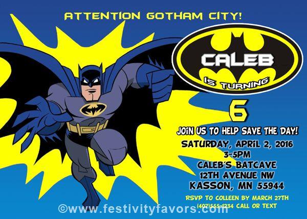 Batman Birthday Invitations Target