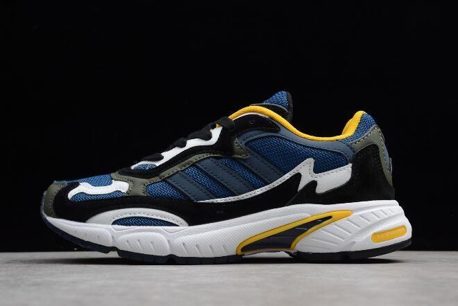 dd2771117202 adidas Temper Run Blue White-Yellow B05243