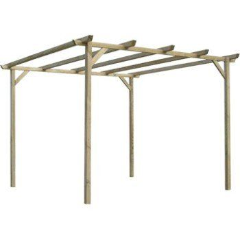 Pergola autoportante bois naturel 9 m² | Leroy Merlin