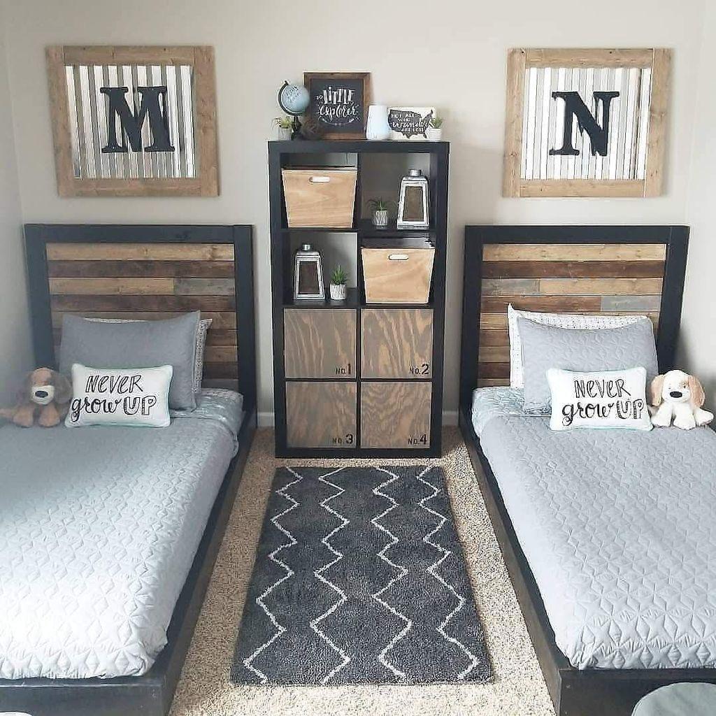 48 Spectacular Diy Organization Ideas For Teenage Boys Bedroom Boy Bedroom Design Teenager Bedroom Boy Farmhouse Headboard