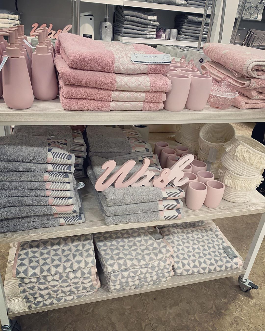 Rachel On Instagram Loving This Pink And Grey Bathroom Collection In Shopmatalan Bathroom Pink Bathroom Decor Apartment Decor Bathroom Collections [ 1350 x 1080 Pixel ]
