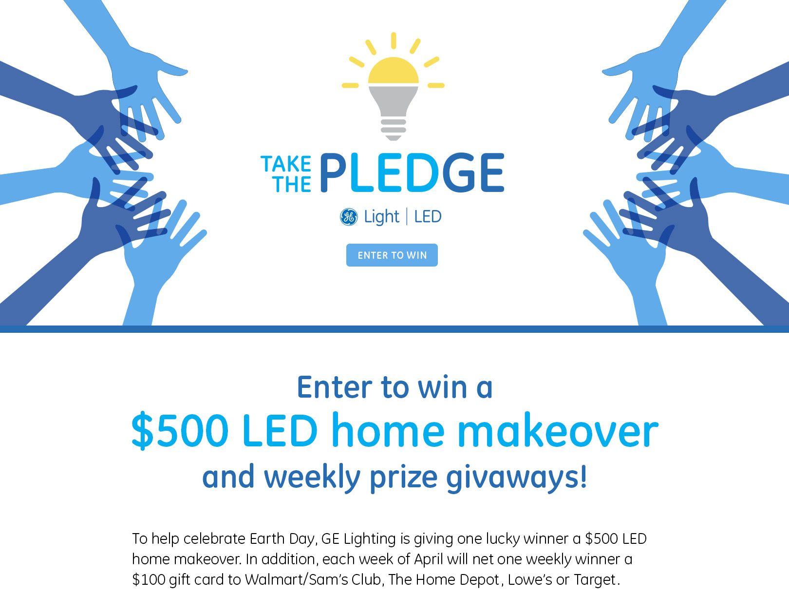 GE Lighting LED Makeover Sweepstakes | Giveaways | Led
