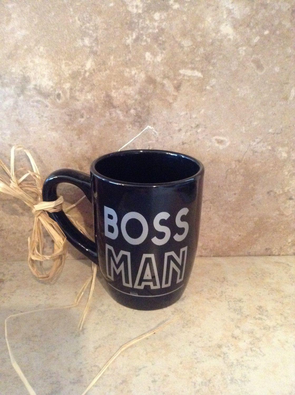 Boss Man Coffee Mug Black Coffee Cup Black Boss Man Coffee Mug