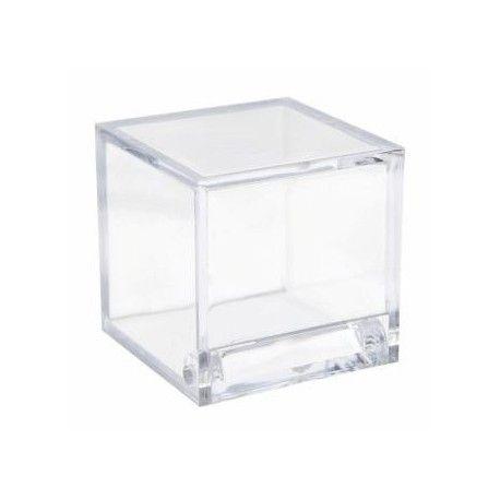 bo tes drag es cube transparent couleur les 4 bapt me d coration bo te drag es. Black Bedroom Furniture Sets. Home Design Ideas