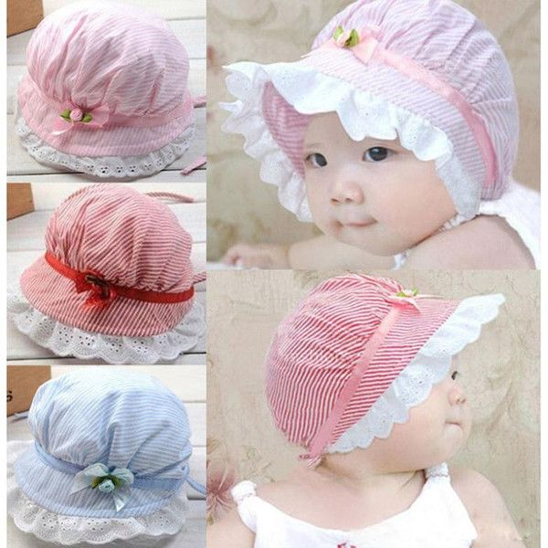 Lace Newborn Baby Hat Photography Props Summer Girls Sun Hat Infant Bonnet Caps
