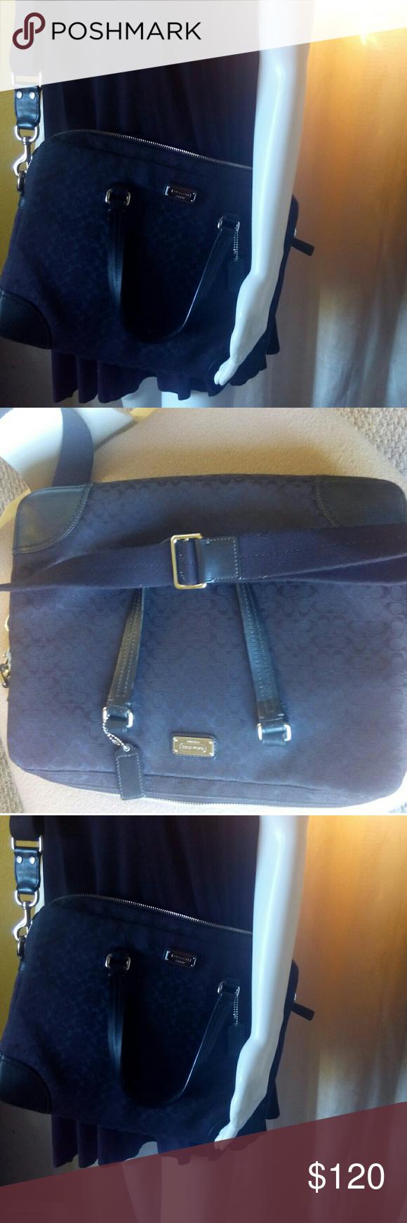 Black Coach Messenger Bag Like New Lightly Used Bags