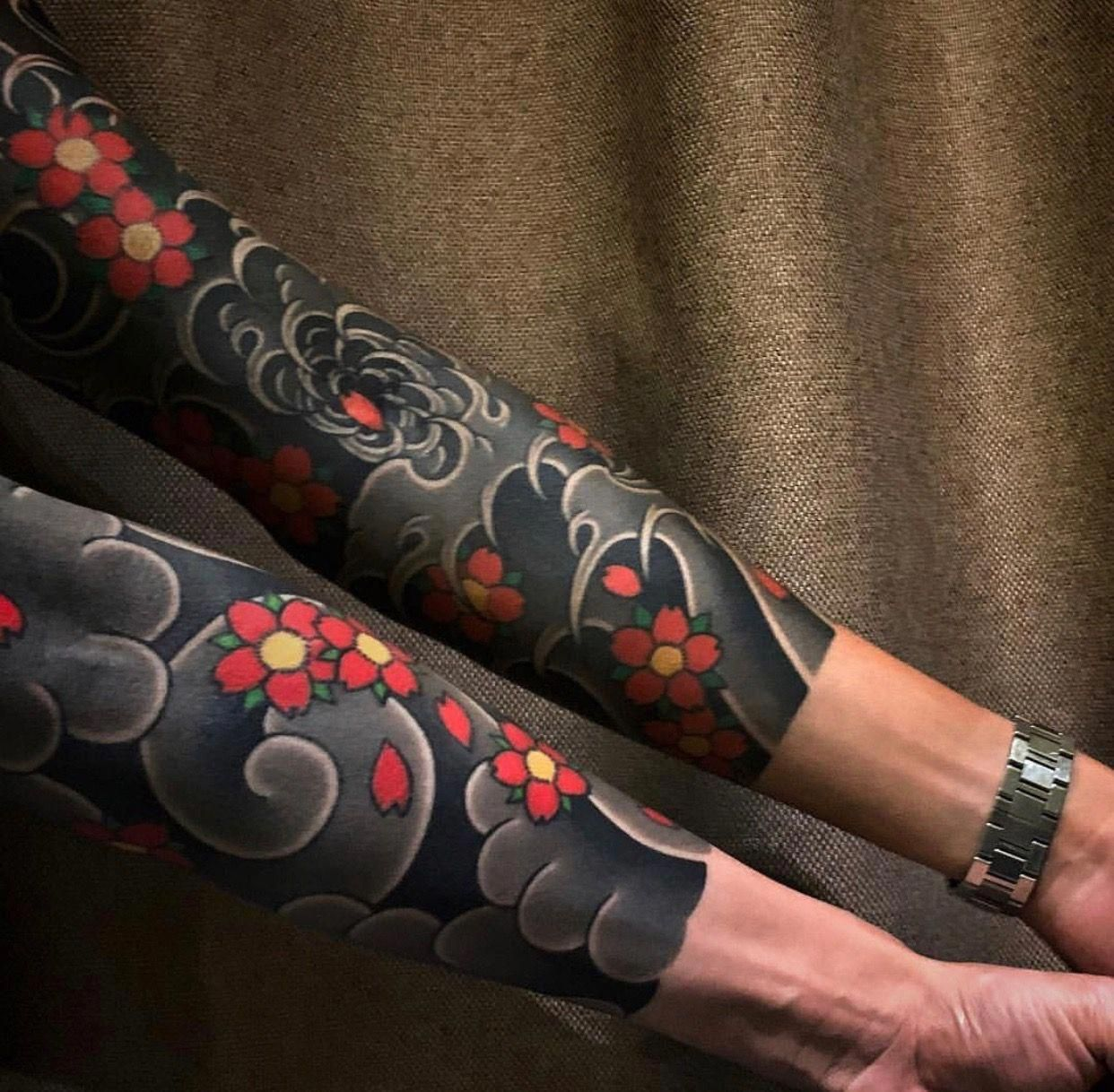 I Seriously Adore The Colorings Lines And Depth This Is Definitely An Amazing Layout If You Rea Japanese Tattoo Japanese Tattoo Designs Floral Tattoo Sleeve