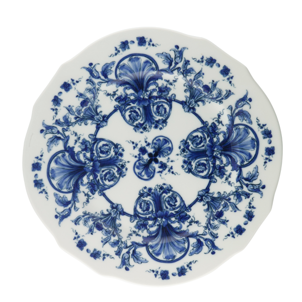 Babele Blue Charger How To Draw Hands White Porcelain Blue Flowers