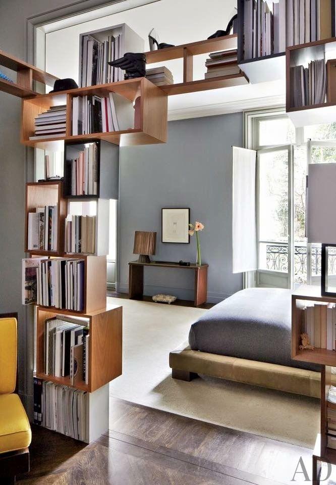 Transparente | Living room divider, Bookshelf room divider ...