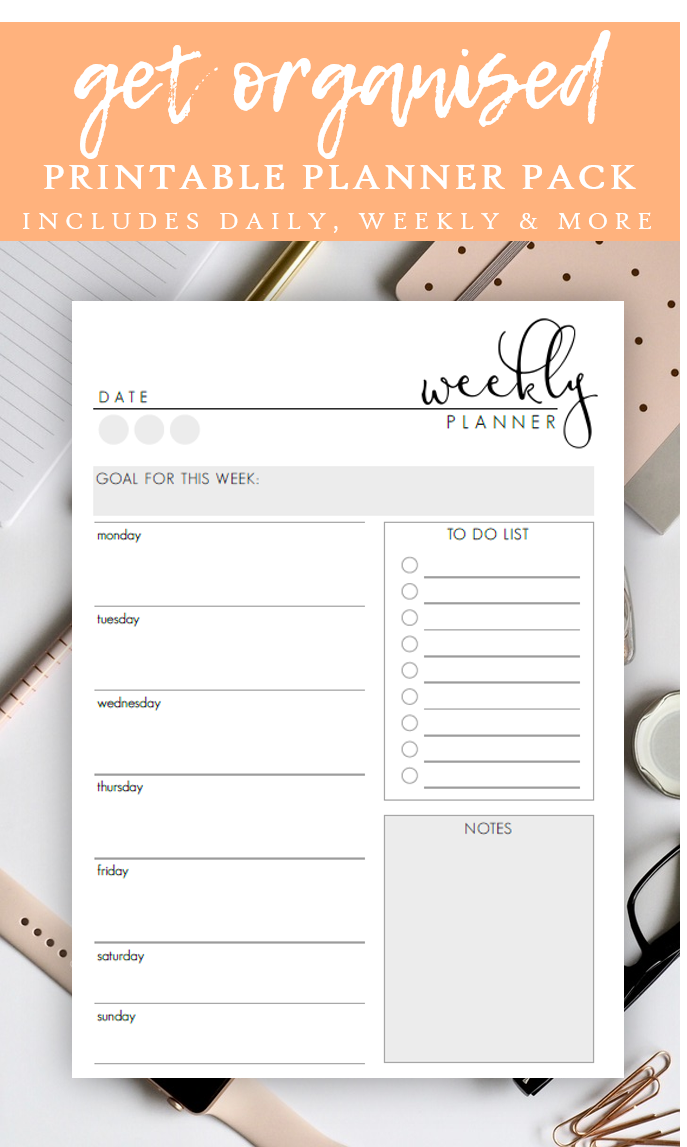 Daily Weekly Planner Pack Productivity Planner Inserts