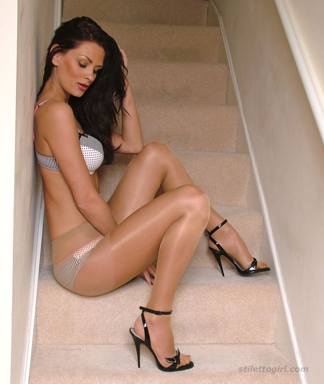 Legs high heels pantyhose