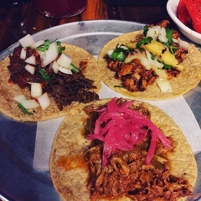 #Chicago.  On our way back to the train station we had to stop at our  #favorite restaurant @tacojointrn. Al Pastor, La Cochinita and  #barbacoa tacos with grilled sweet  #peppers +  #strawberry hibiscus  #aguafresca.  Heaven!! See you next time Chicago!  #glutenfree  #family  #chicagofood  #jerf  #eeeeeats  #yummy  #eatingclean  #pork  #beef  #pineapple  #onion  #eatclean  #cleaneats  #cleaneating  #tacos  #taco  #wholefoods #We #had #so  We had so much fun at Winter Wonderfest at Navy Pier in