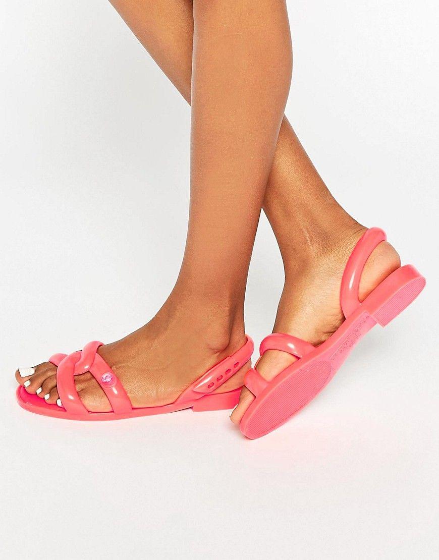 1a5ff3d34e17 Melissa + Jeremy Scott Tube Coral Pop Flat Sandals