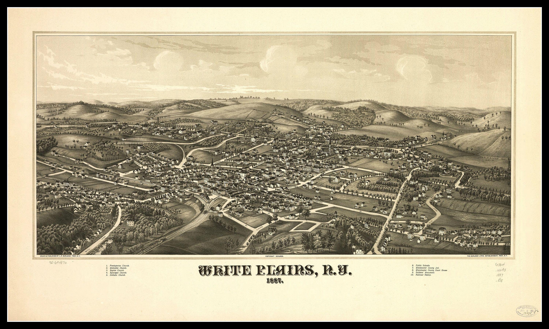 20x30 Bird/'s Eye View 1885 Birmingham AL Vintage Style City Map