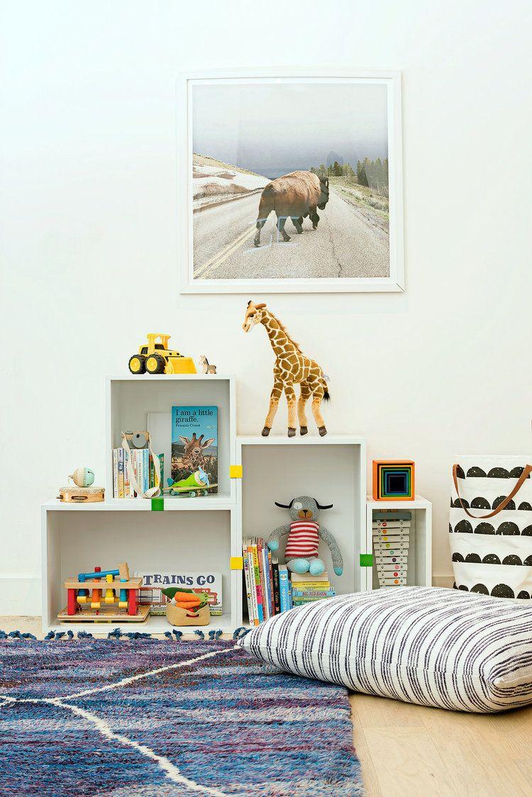 San Francisco Interior Design Company Regan Baker Casual Hip Marin County Kids Area Play Room Storage Toys Styling Details