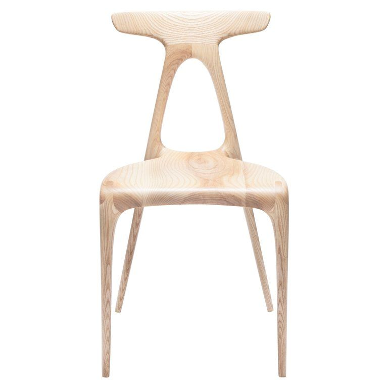 Alpha Solid Oak Stackable Contemporary Dining Chair By Made In