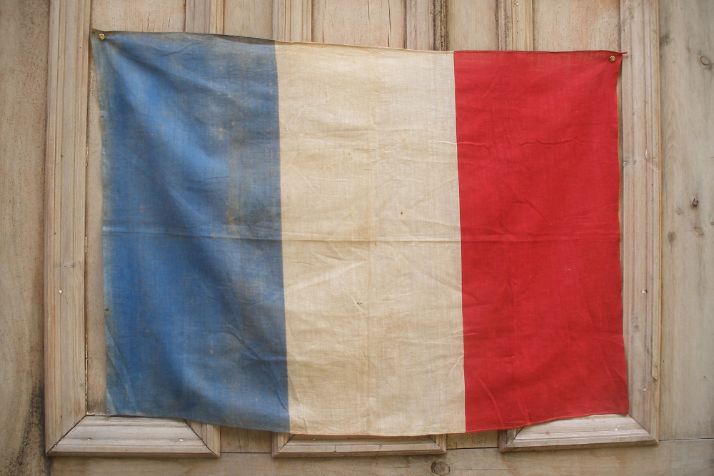 Vintage French Flag Printed Cotton Tricolore Tricolour Etsy French Flag French Vintage Flag Prints
