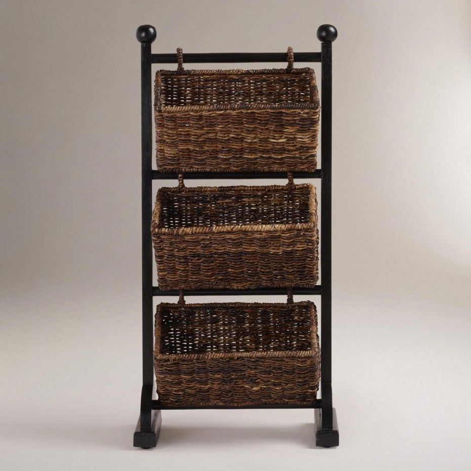 Gallery For Website Traditional Rattan Baskets Glossy Dark Stand Incredible Towel Storage
