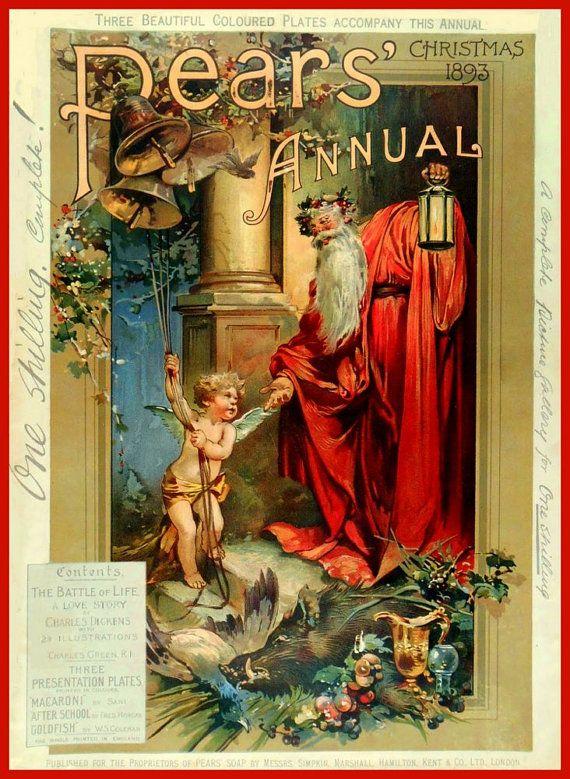 Art Print Bathroom Art Pears Soap Christmas Annual Cover 1893