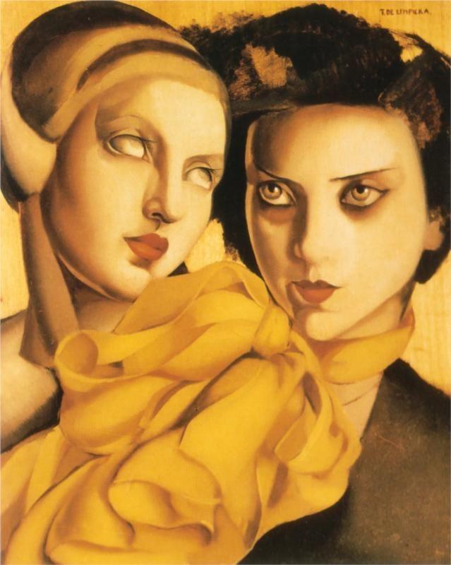 Young Ladies, 1927-Tamara de Lempicka - by style - Art Deco