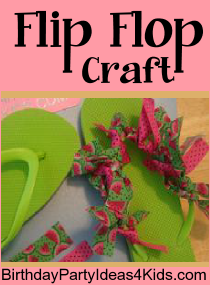 party craft ideas for 9 year olds flip flop craft great for birthday slumber 8135
