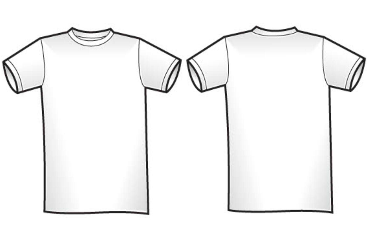 Download White T Shirt Front And Back Clipart Clipart Shirt Template T Shirt Design Template Tee Shirts